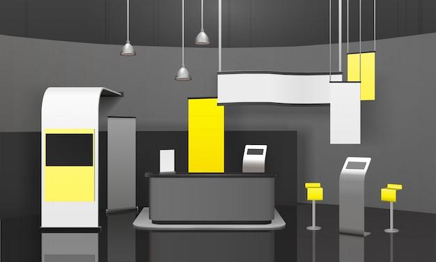 広告展示スタンド3dモックアップ