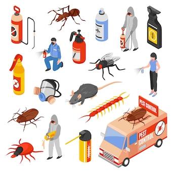 害虫駆除の3d異性セット