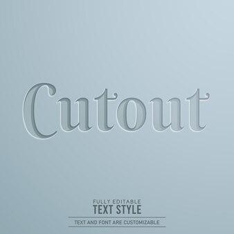 切り抜き紙3d編集可能なテキスト効果