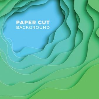 3d геометрический фон с реалистичными слоями бумаги вырезать.
