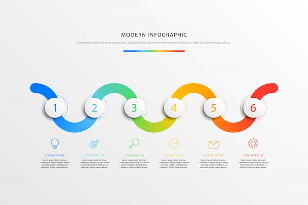 График рабочего процесса инфографика с реалистичными 3d круглых элементов и плоской линии маркетинга иконки