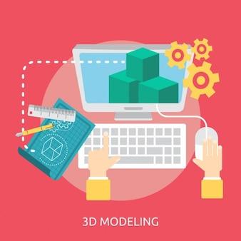 Дизайн 3d моделирования фона
