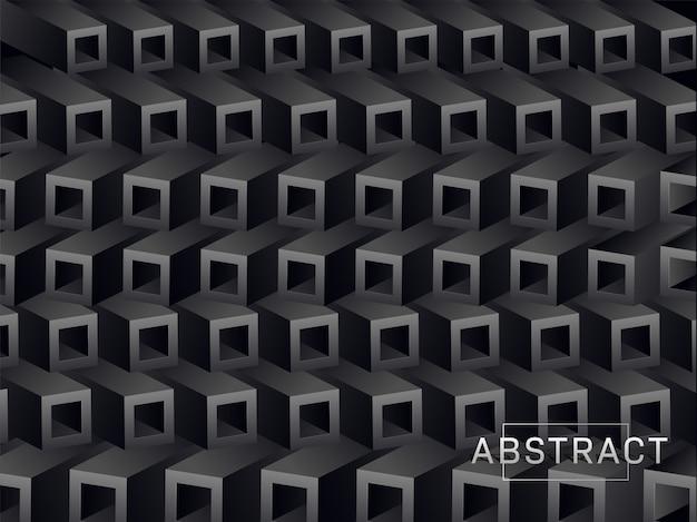 3d квадратный блок слой абстрактный фон.
