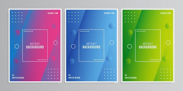Красочный плакат 3d