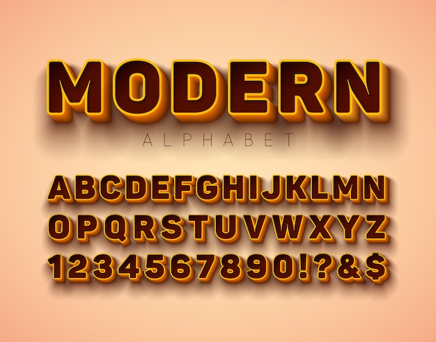 フレームと影とベクトル3dアルファベットのフォント