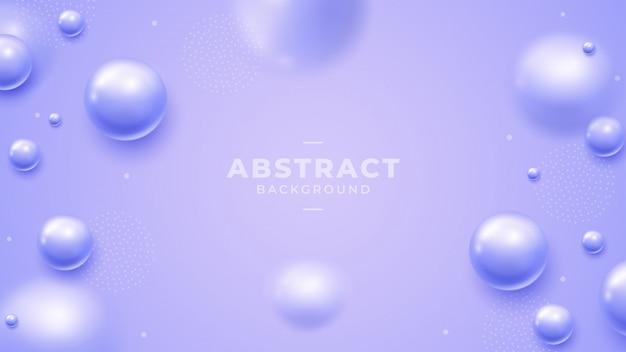 Фиолетовый фон с красивыми 3d шариками.