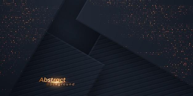 Роскошная геометрическая форма фона с 3d-стиле.