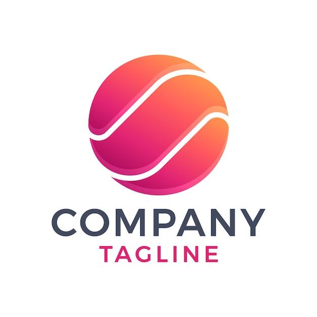 Абстрактный современный 3d круглый шар градиент логотип