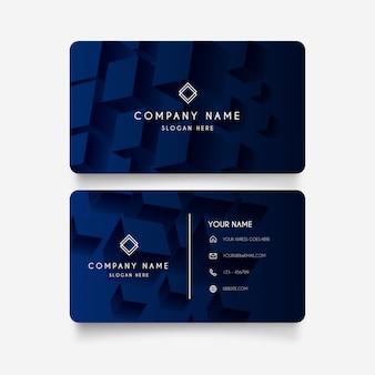 Современная визитная карточка с 3d кубиками
