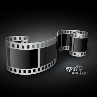 ベクトル現実的な3dフィルムリール