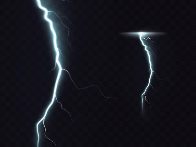 3d векторные реалистичные иллюстрации молнии