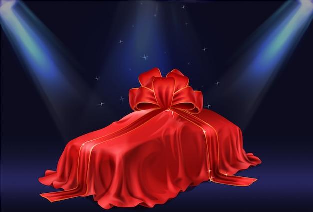 Подарок новый автомобиль 3d реалистичный вектор концепции