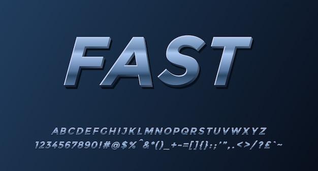 数字と記号で完成した高速3dアルファベット