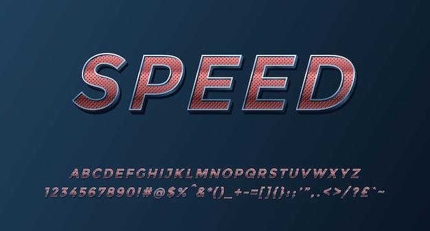 数字と記号で完成したスピード3dアルファベット
