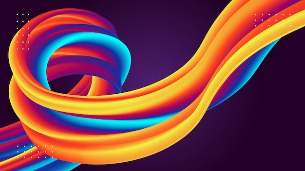 Современный абстрактный фон с 3d текучими формами