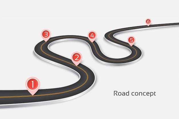 Извилистая дорога 3d инфографики концепция