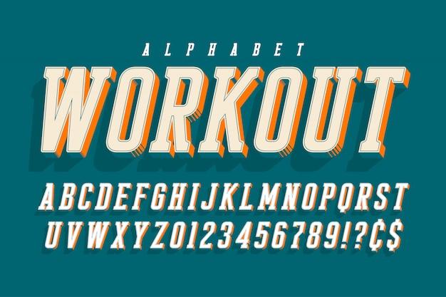 Прохладный вектор 3d алфавита, шрифт, шрифт