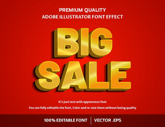 Большая распродажа 3d - легко редактируемый эффект шрифта