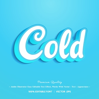 3d эффект холодного шрифта
