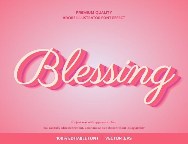 Благословение 3d-эффект шрифта
