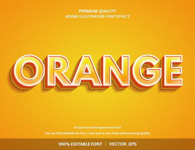 Оранжевый эффект шрифта 3d