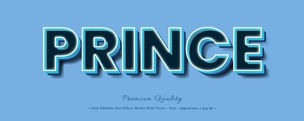 Принц сильный смелый эффект шрифта 3d стиль