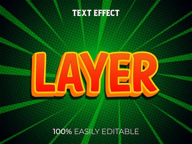 Современный 3d текстовый эффект и редактируемый стиль шрифта