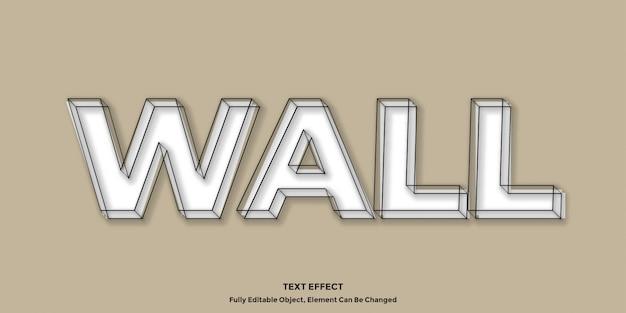 Белый 3d винтажный текстовый эффект