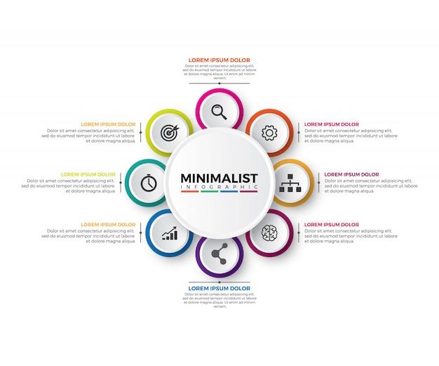Шаблон оформления круговой инфографики 3d