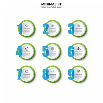 3d инфографики шаблон с иконками