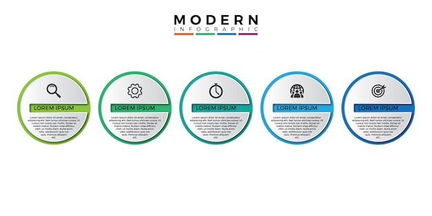 3d инфографики шаблон с пятью шагами к успеху