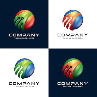 抽象的な3dイーグル、鷹、鷹、技術ロゴ