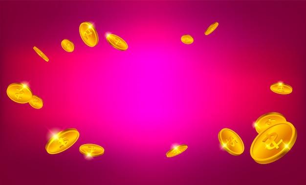 3d золотые монеты