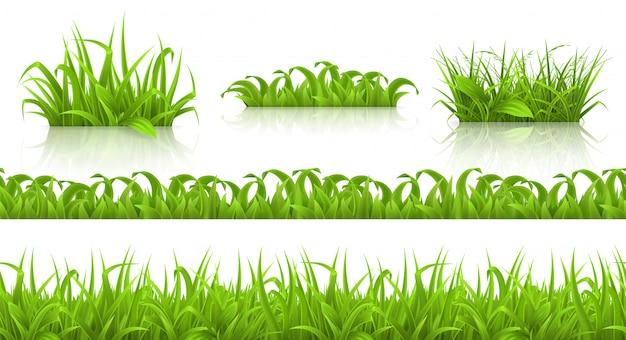 Весенняя трава бесшовные модели и с, 3d