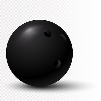 3d черный шар для боулинга
