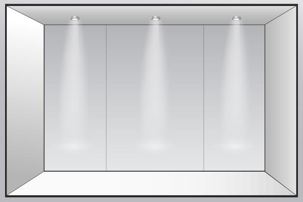 3d выставочный стенд. квадратный угол вектор белый пустой геометрический квадрат. пустой шаблон