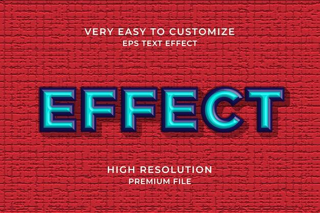 Синий 3d текстовый эффект