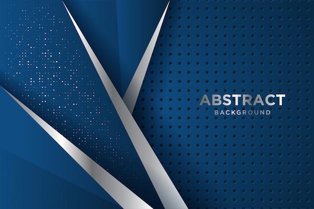 Синий фон с 3d-стиле. концепция дизайна класса люкс.