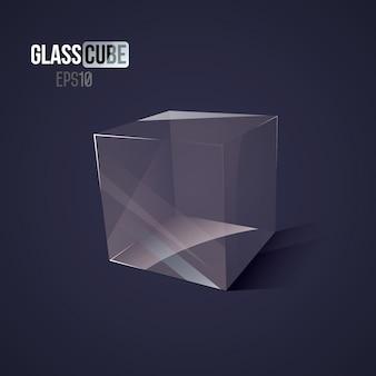 3d стеклянный куб