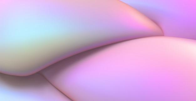 Мягкий перламутровый фон. абстрактный фон жидкости. 3d иллюстрации жидкая динамическая текстура. минималистский шаблон обложки.