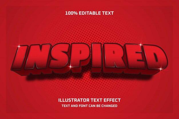 Вдохновленный, редактируемый текстовый эффект 3d современный стиль тени