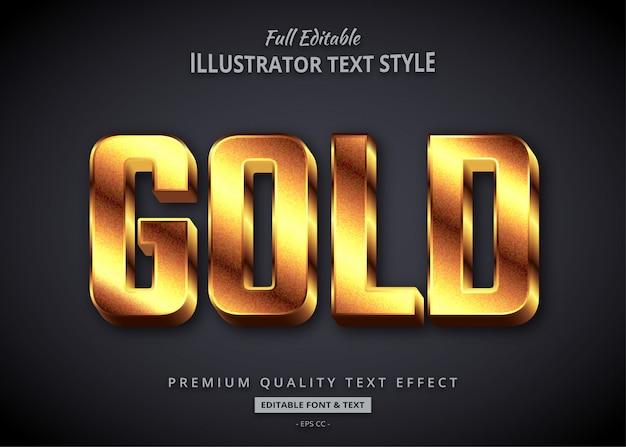Эффект стиля текста 3d текстуры золота