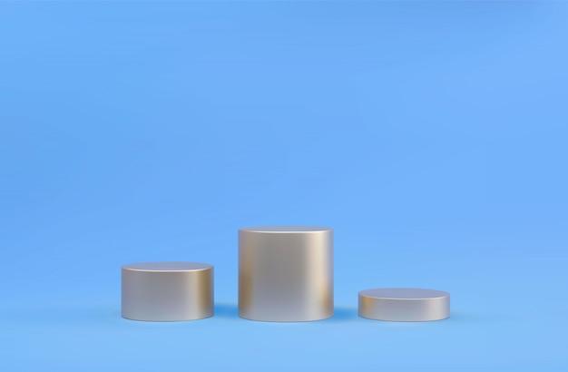 Круглый подиум, постамент или платформа, фон для презентации косметической продукции. 3d подиум. рекламное место. пустой продукт стенд фон в пастельных тонах.