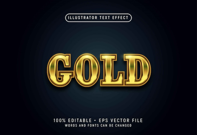 Золото 3d эффект стиля текста