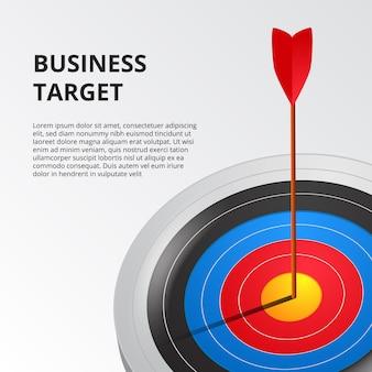 Успешная стрельба из лука одной стрелкой на шаблоне целевой доски 3d