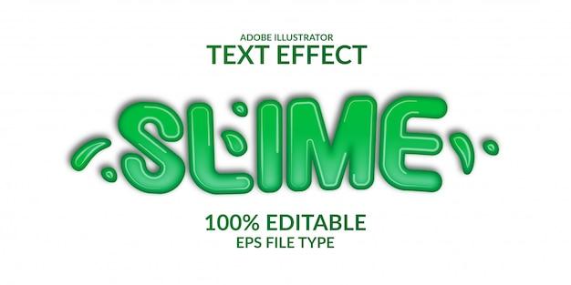 3d зеленый эффект слизи градиент текста.