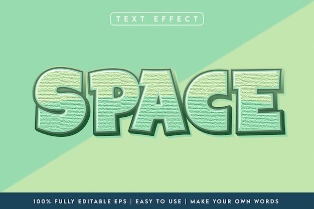 Космический 3d стиль текста с эффектом зеленого цвета