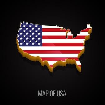 アメリカの3dマップ