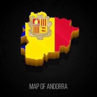 3d карта андорры