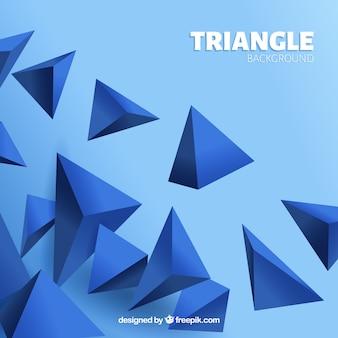 Фон с 3d треугольниками